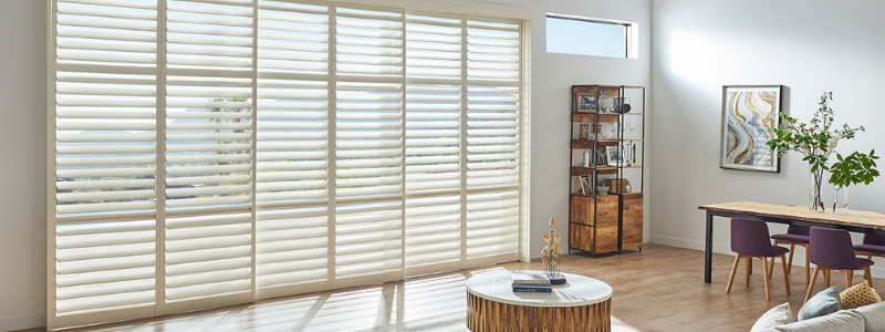 Eclipse plantation shutters in living room