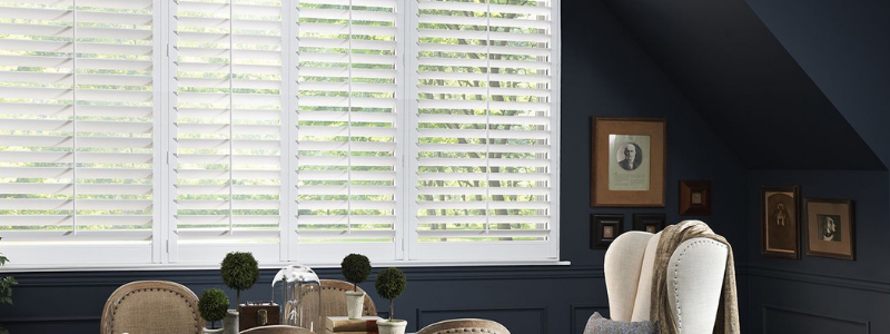 Eclipse plantation shutters in home