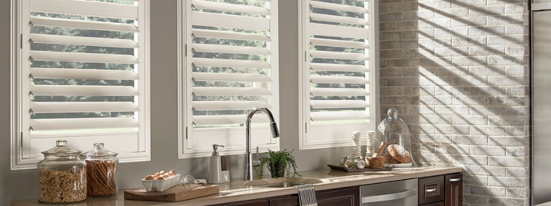 Eclipse plantation shutters in kitchen