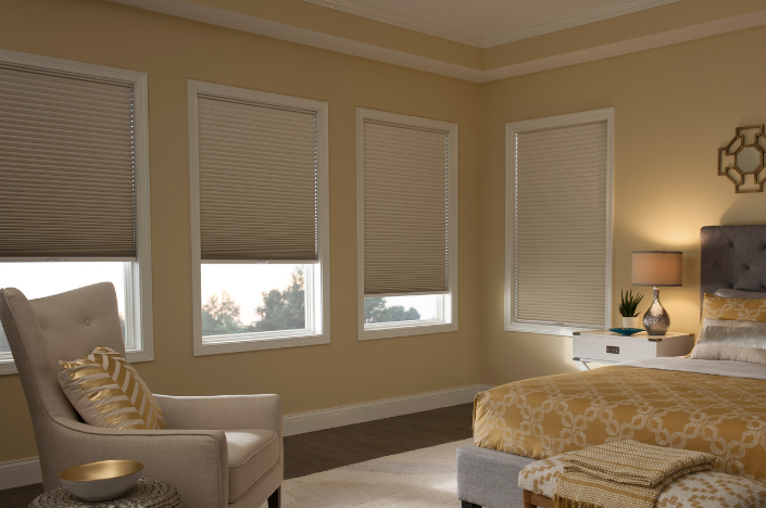 clean honeycomb blinds